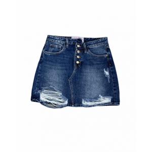 Minigonna jeans destroy...